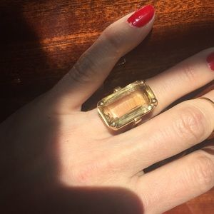 14K and stone cocktail ring